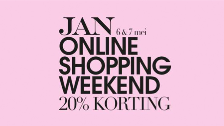 JAN Online Shopping Weekend is er weer