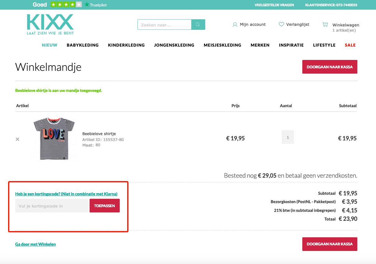 Babykleding Geen Verzendkosten.Kixx Online Kortingscode En Korting Shopkorting Nl